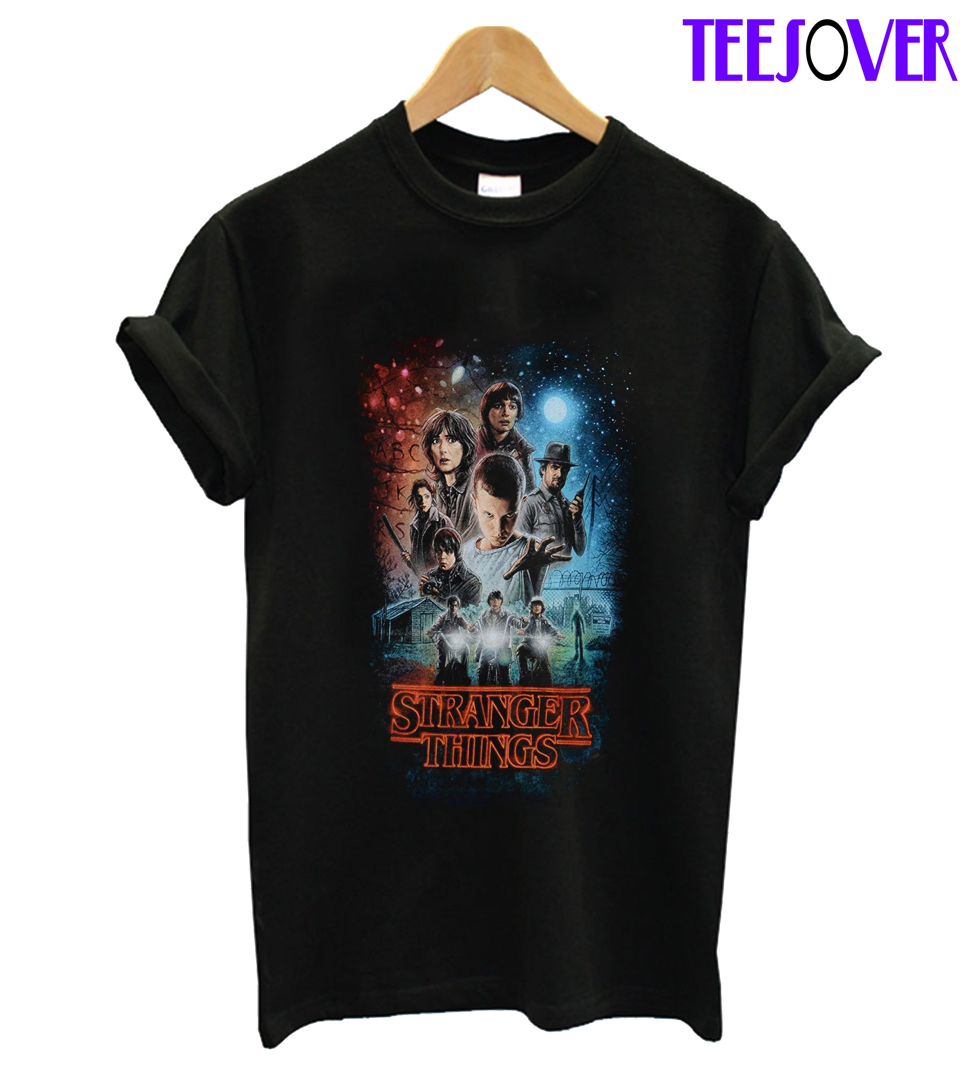 Millie Bobby Brown Stranger Things Autographed Group Shot Graphic T Shirt