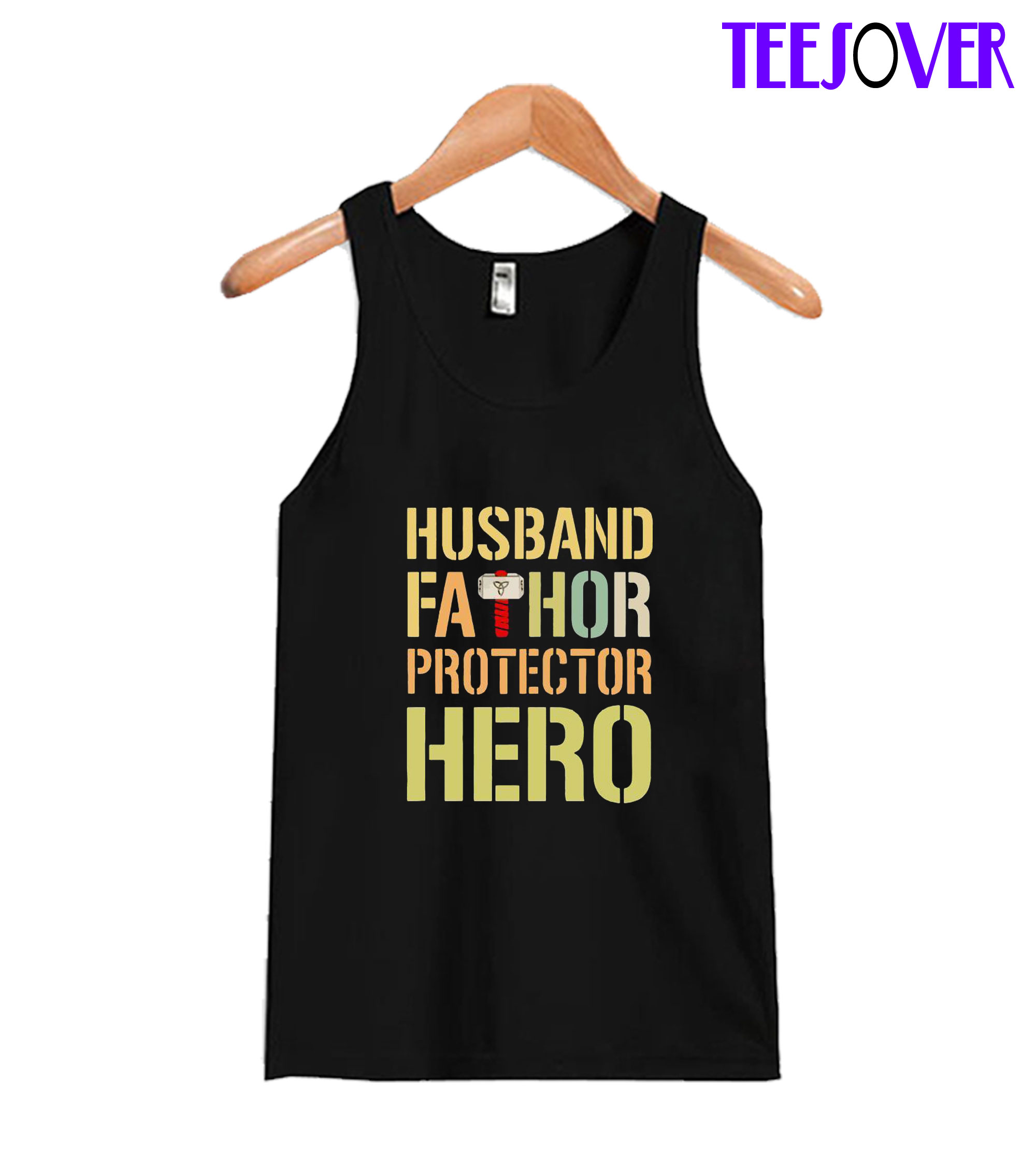 Husband fathor Protector Hero Tanktop
