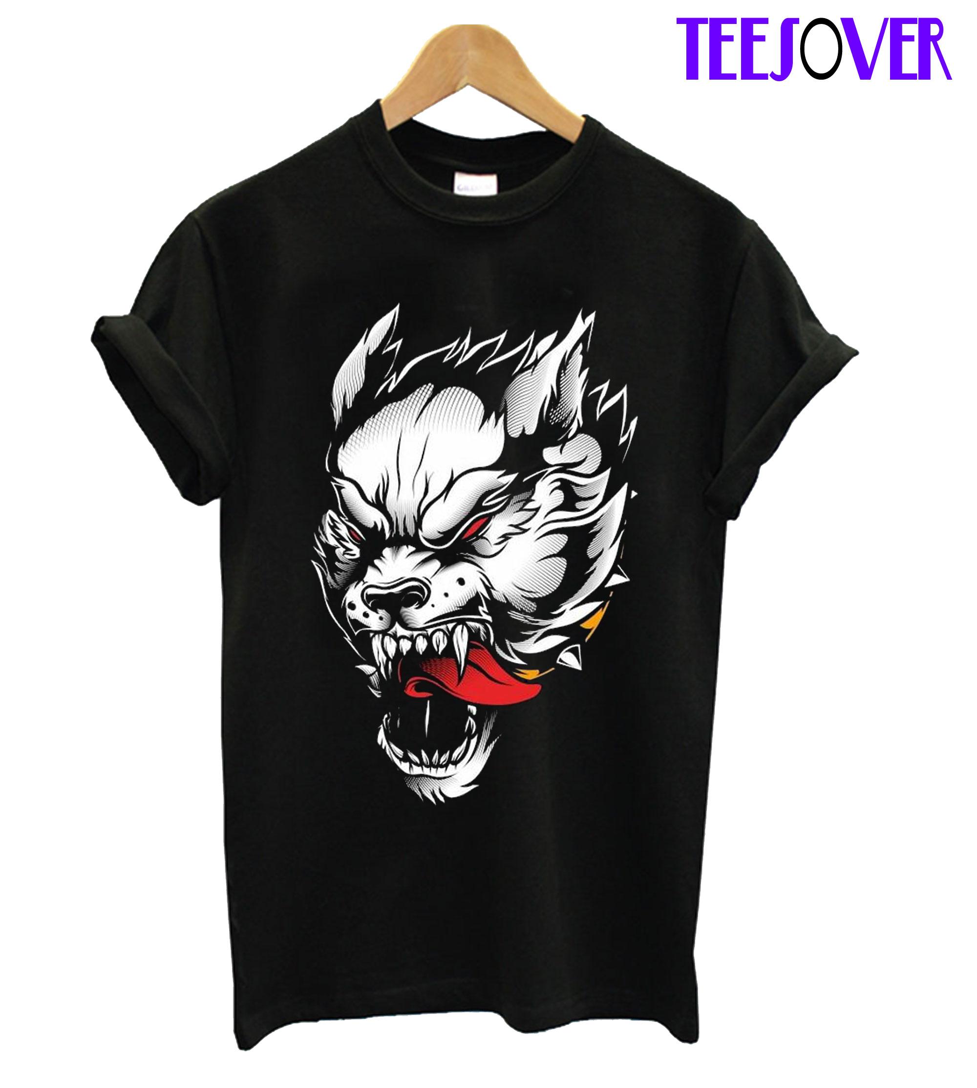 Wolf Vector Hand T-Shirt