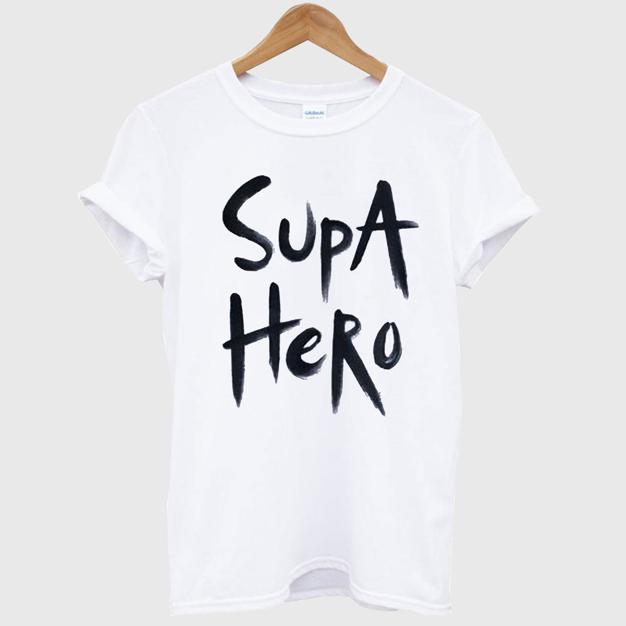 'Supa Hero' Hand Painted T Shirt