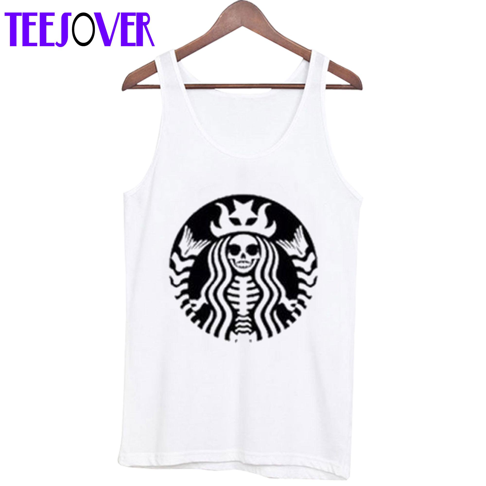 Starbucks Skeleton tank top