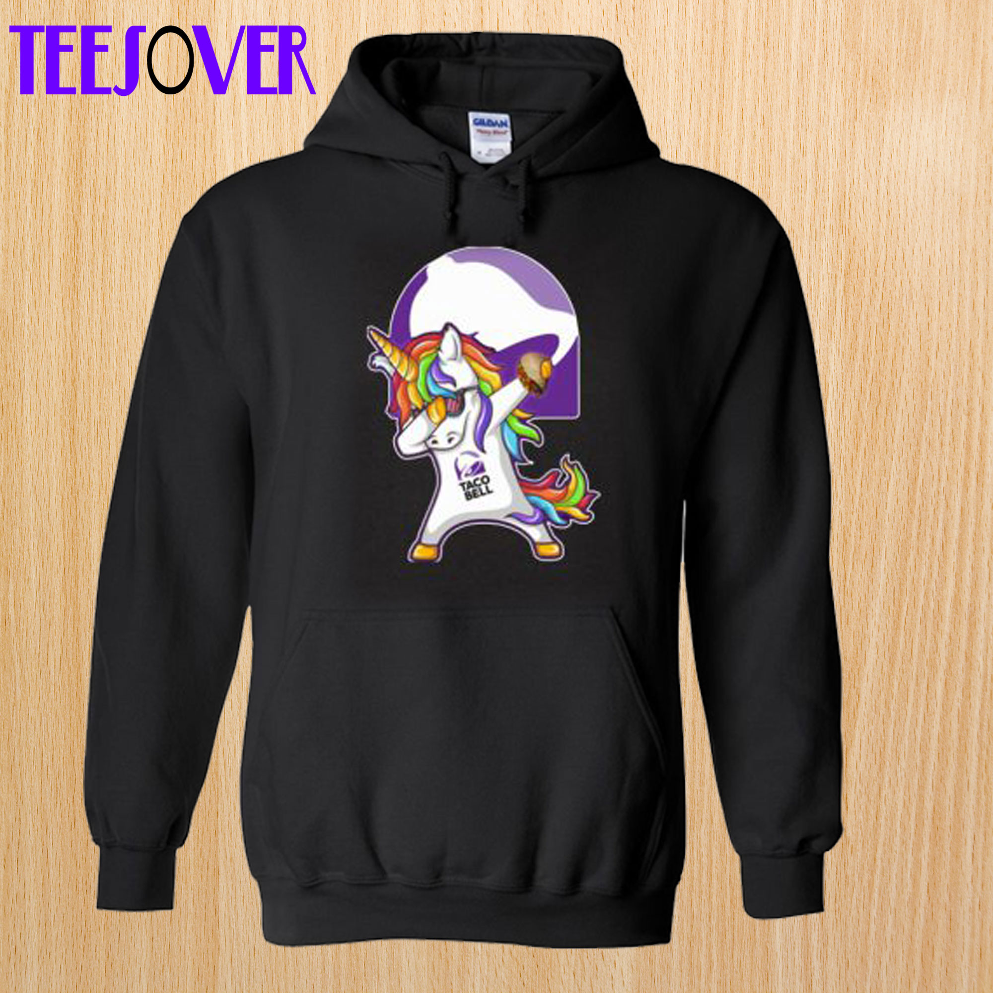 Unicorn Dabbing With Taco Bell Hoodie