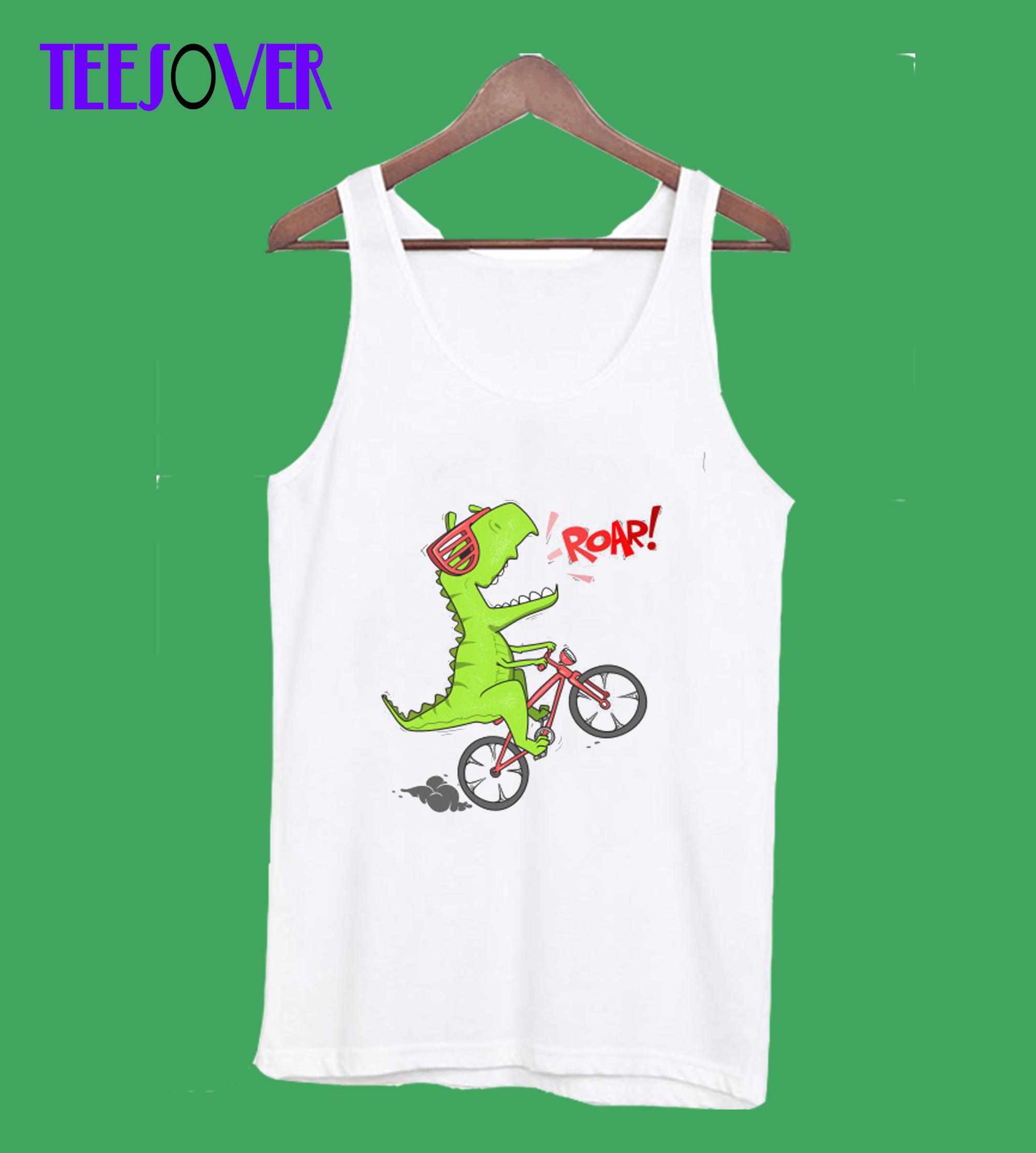 Dinosaur on the bicycle Tanktop