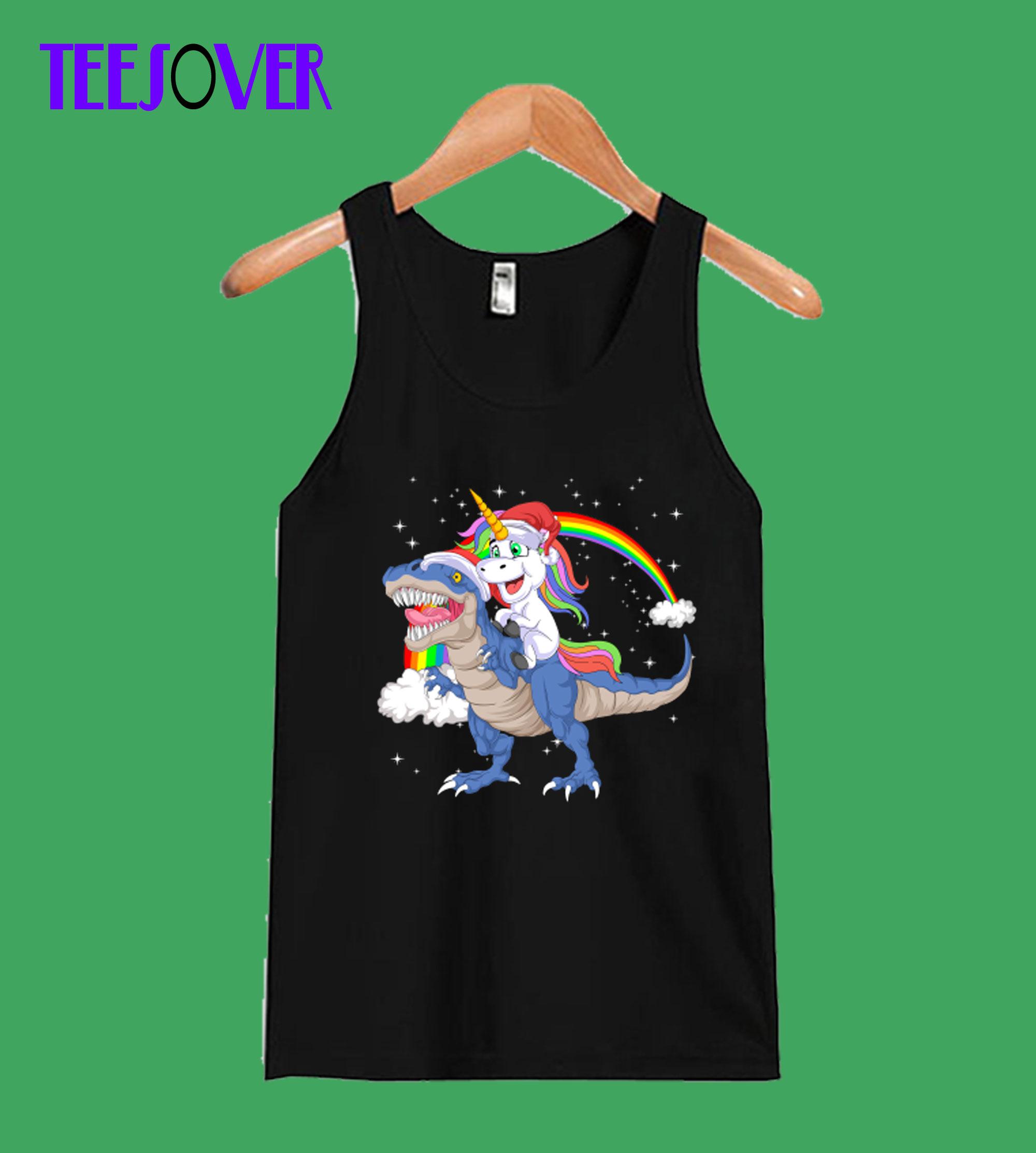 unicorn--dinosaurus-Tanktop