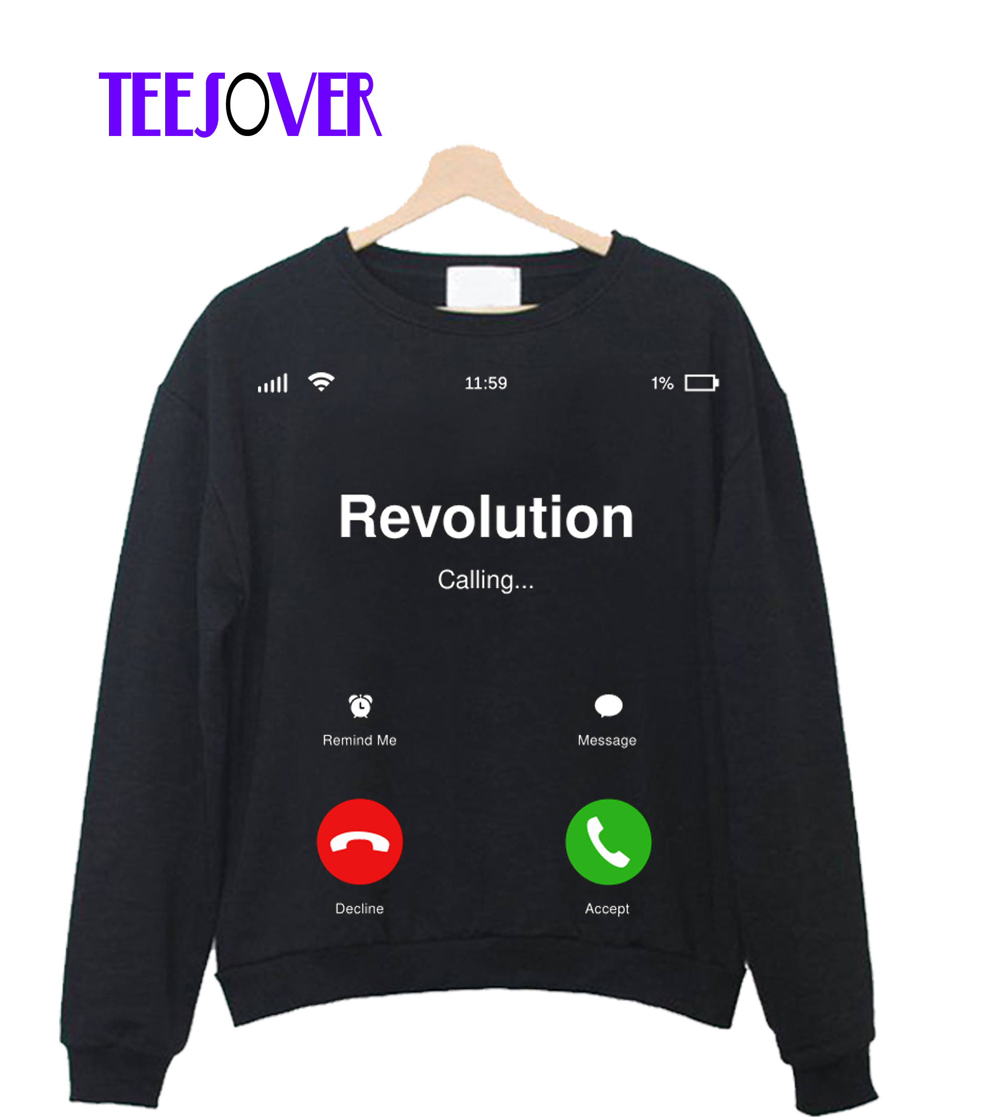 Revolution Calling - Social Activism - Call for Action Crewneck Sweatshirt