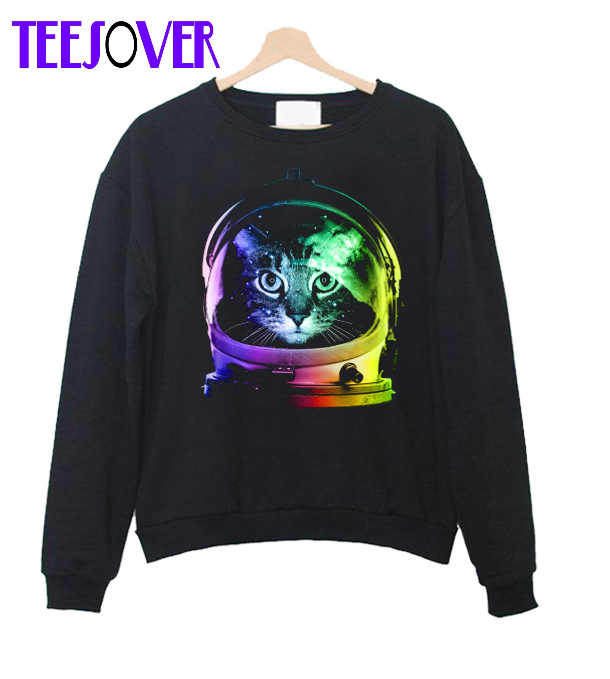 Space cat Crewneck Sweatshirt